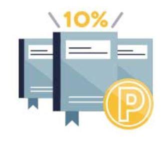 Prime Studentの特典で本を3冊以上同時に購入すれば最大10%ポイントが還元される