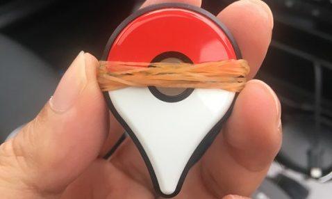 ポケモンGO Plusを輪ゴムで自動化させる