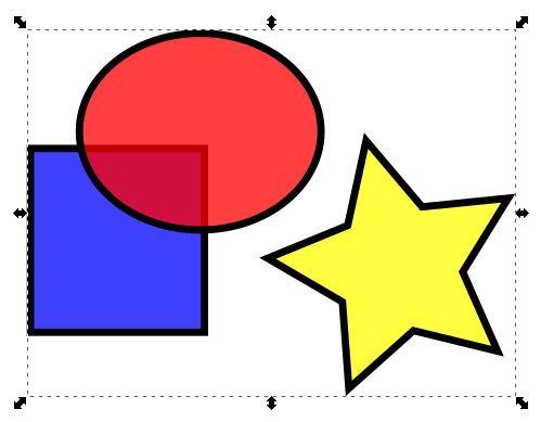 inkxcapeのオブジェクトをグループ化させる