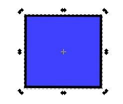 inkscapeのオブジェクトを2回クリックすると矢印が変わる