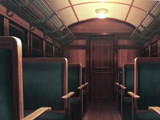 アニメ映画の列車内