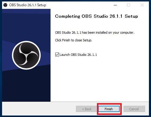 OBSファイルのインストールが完了