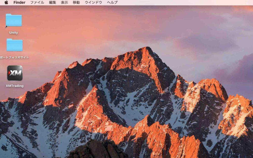 macOS「Sierra」のホーム画面