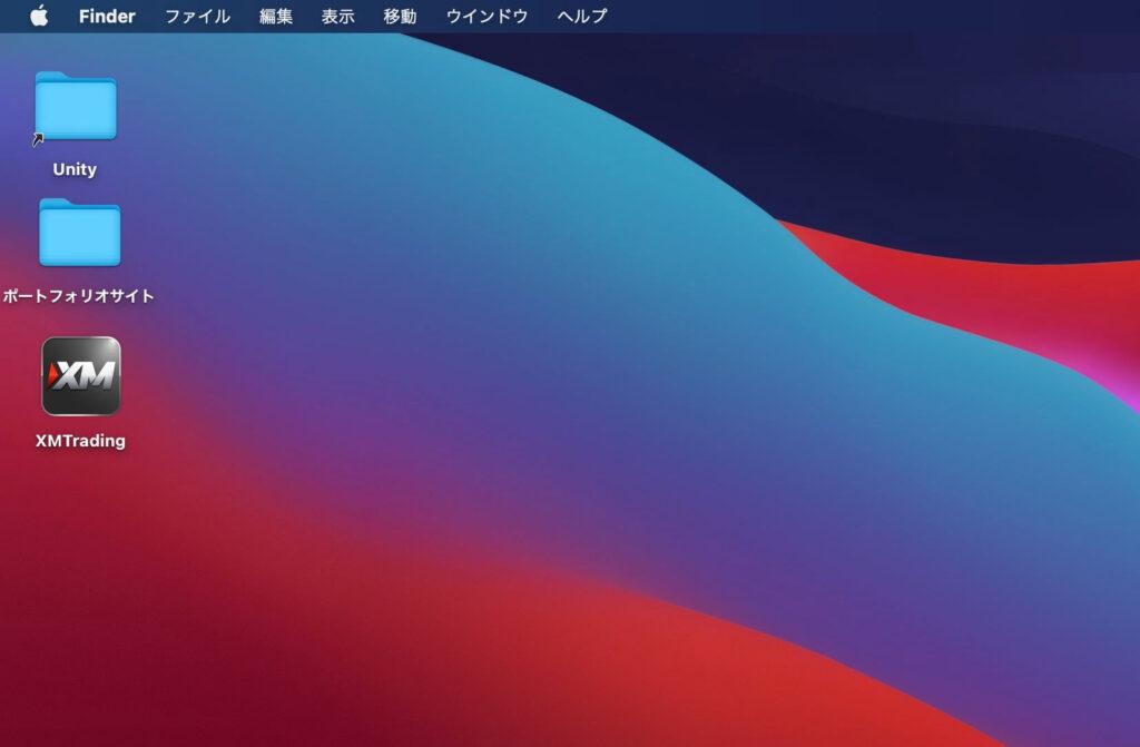 macOS「Big Sur」のホーム画面